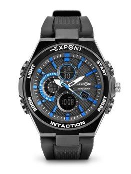 Herren Armbanduhr Schwarz-Blau  3285