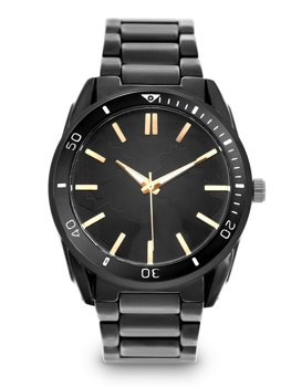Herren Armbanduhr Schwarz  Stahl  5690