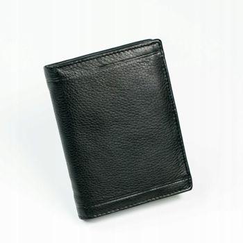 Herren Leder Geldbörse Schwarz 879