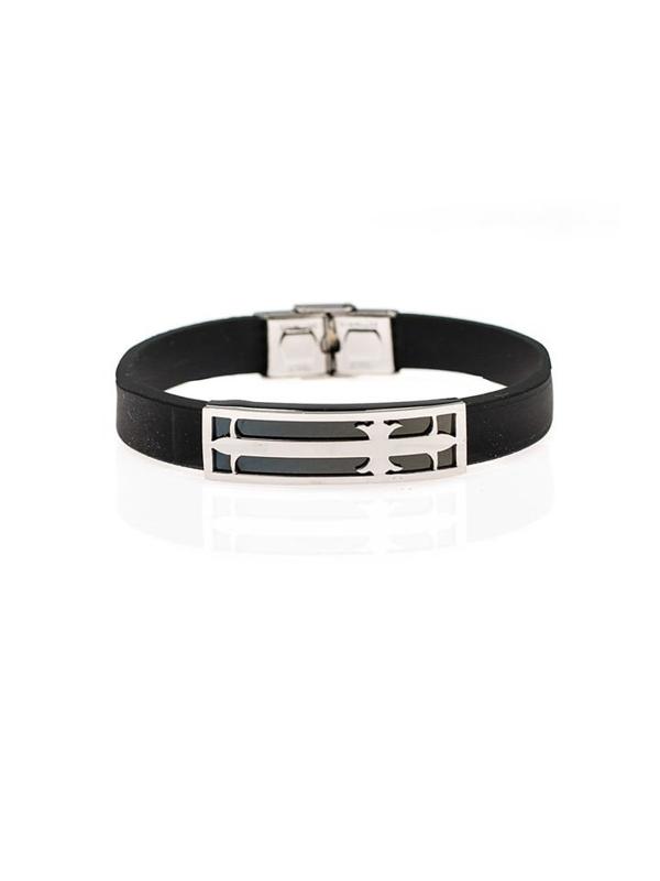 Bolf Herren Armband Schwarz B051