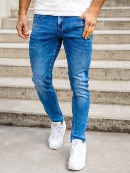 Bolf Herren Jeans Hose skinny fit Dunkelblau  KX399