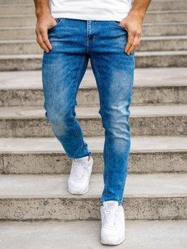 Bolf Herren Jeans Hose skinny fit Dunkelblau  KX501