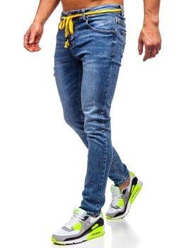 Bolf Herren Jeans Hose skinny fit Dunkelblau  KX565