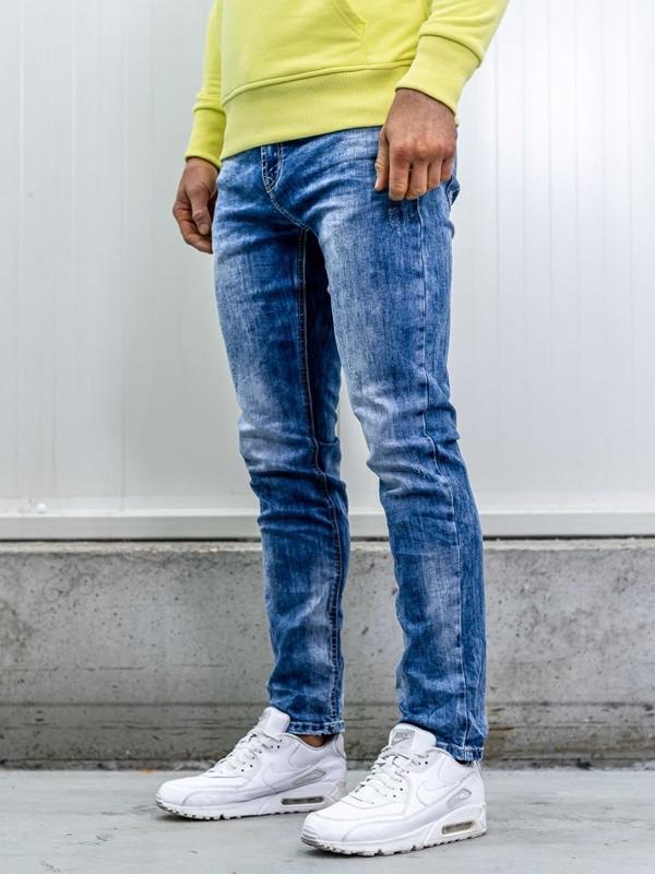 Bolf Herren Jeans Hose straight leg Dunkelblau  KA1581