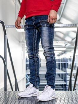 Bolf Herren Jeans Hose straight leg Dunkelblau  KA9915