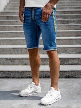 Bolf Herren Jeans Shorts Dunkelblau  HY652