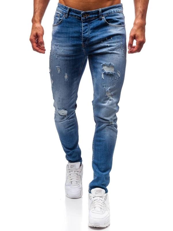 Bolf Herren Jeanshose Blau  1008