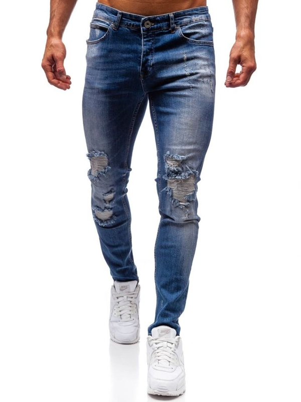 Bolf Herren Jeanshose Blau  1009