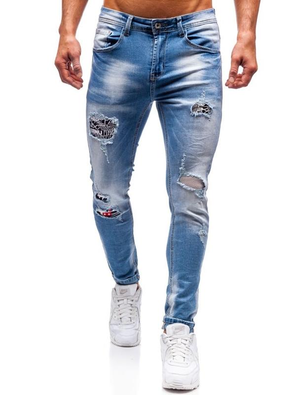 Bolf Herren Jeanshose Blau  3940