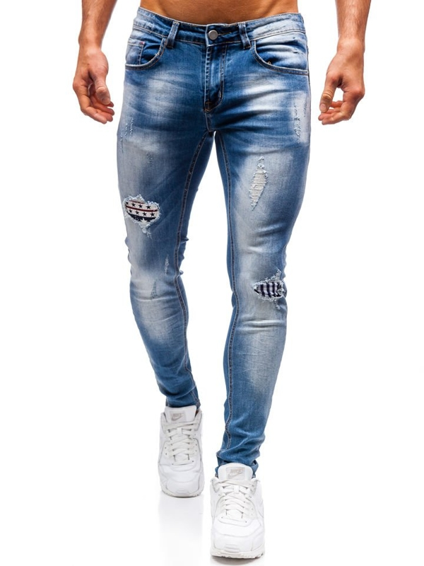 Bolf Herren Jeanshose Blau  3950