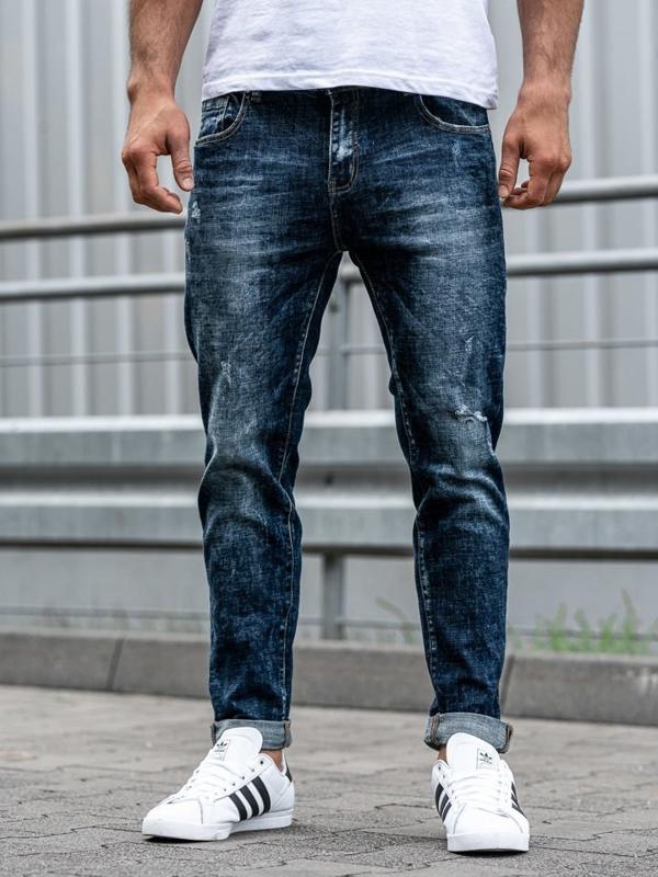 Bolf Herren Jeanshose Dunkelblau  KX269