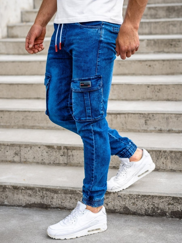 Bolf Herren Jeanshose Jogger Pants Dunkelblau  HY688