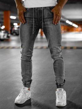 Bolf Herren Jeanshose Jogger Pants Grau  KA1815