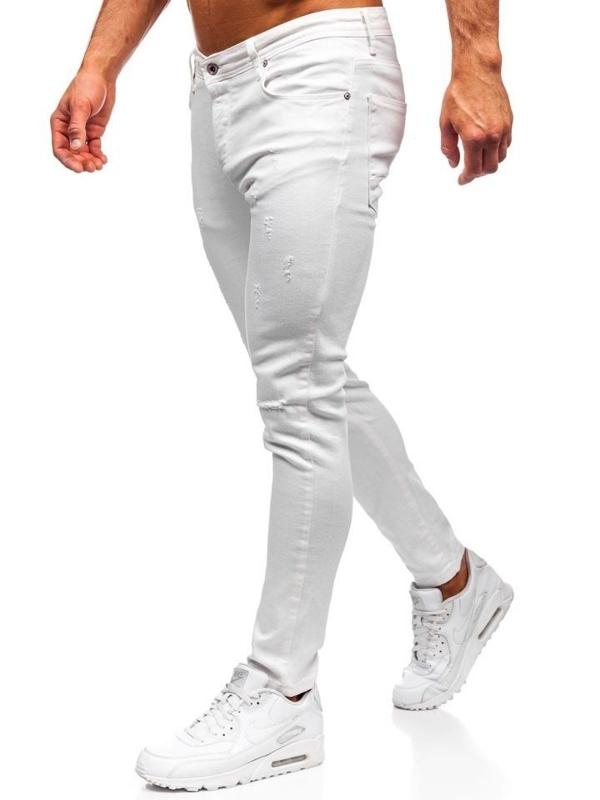 Bolf Herren Jeanshose Weiß  55118