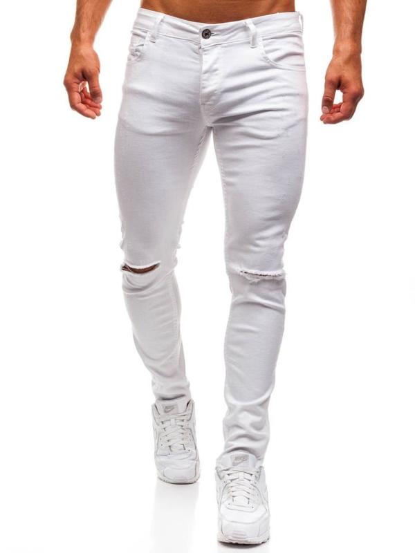 Bolf Herren Jeanshose Weiß  8021