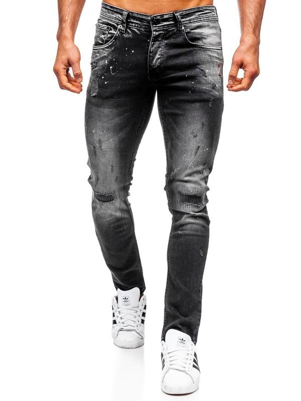 Bolf Herren Jeanshose regular fit Schwarz  4000