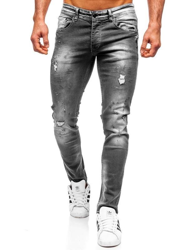 Bolf Herren Jeanshose regular fit Schwarz  4006