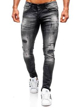 Bolf Herren Jeanshose regular fit Schwarz  4008