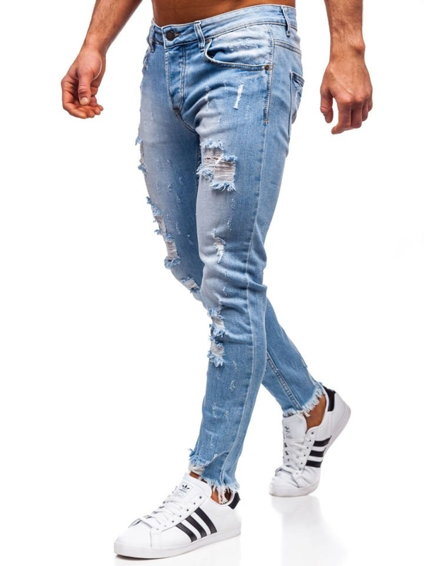 Bolf Herren Jeanshose skinny fit Dunkelblau  KA279