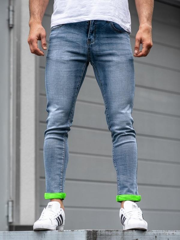 Bolf Herren Jeanshose skinny fit Dunkelblau  KX162