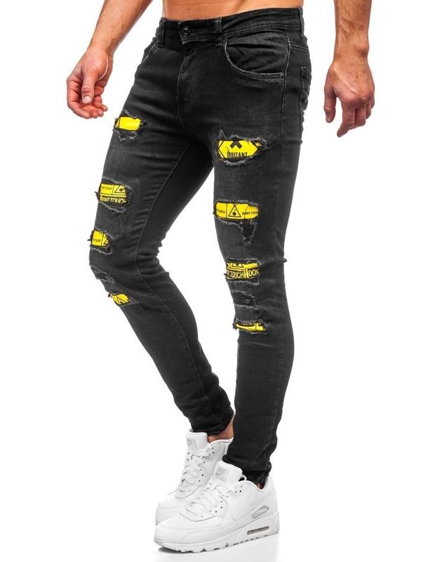 Bolf Herren Jeanshose skinny fit Schwarz  KA1869