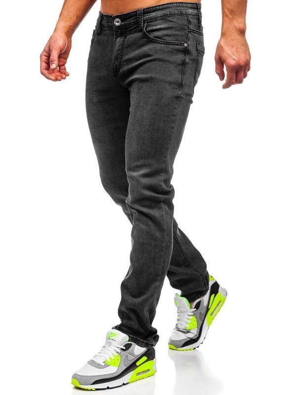 Bolf Herren Jeanshose straight leg Schwarz KA1063