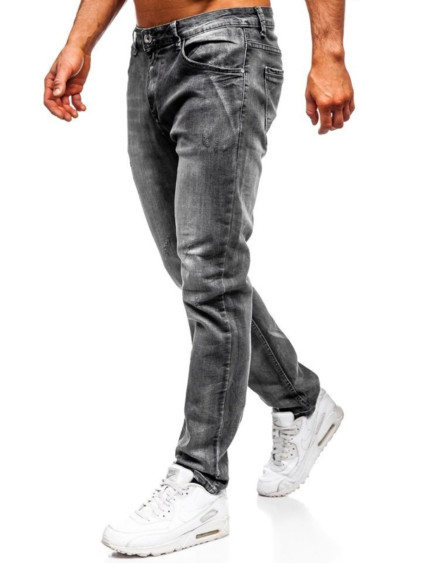 Bolf Herren Jeanshose straight leg Schwarz KA1575