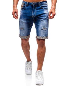 Bolf Herren Kurze Jeanshose Blau  T399