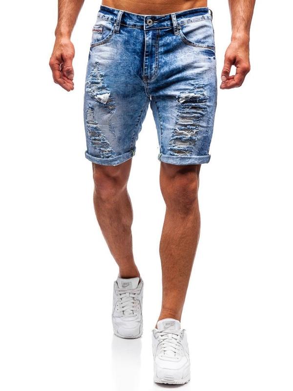 Bolf Herren Kurze Jeanshose Blau  T567