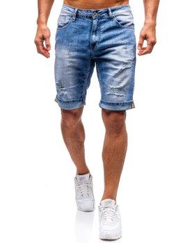 Bolf Herren Kurze Jeanshose Blau  T578