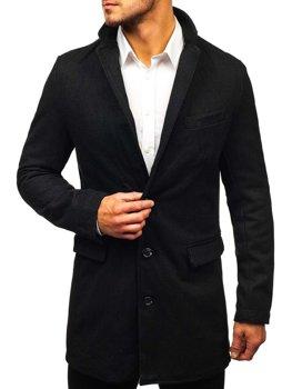 Bolf Herren Mantel Schwarz  NZ01