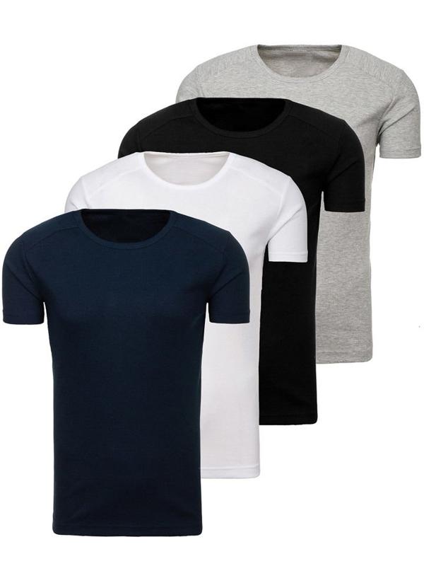 Bolf Herren Unterhemd Mehrfarbig 4 Pack  C3065-4P
