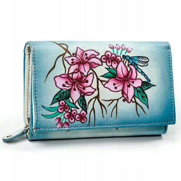 Damen Leder Geldbörse Mehrfarbig 3045