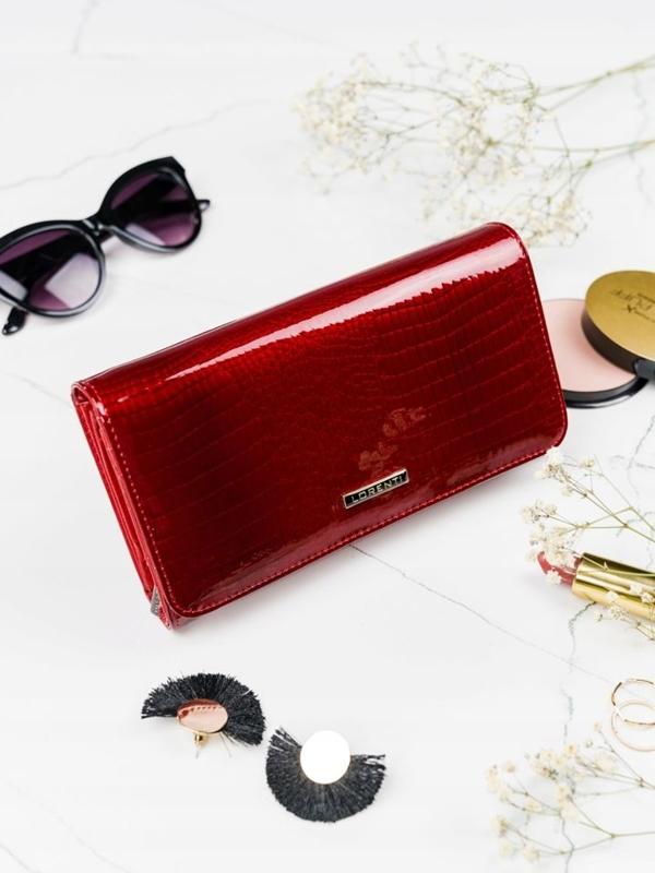 Damen Ledergeldbörse Rot 2111