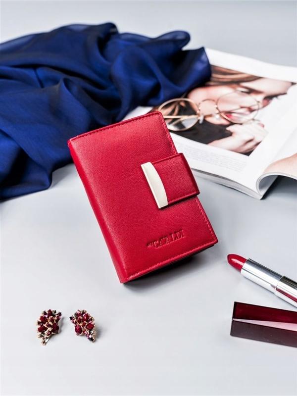 Damen Ledergeldbörse Rot 2412
