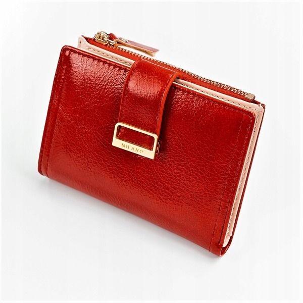 Damen Ökoledergeldbörse Rot 1041