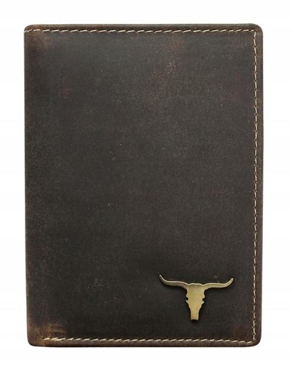 Herren Leder Geldbörse Braun 496