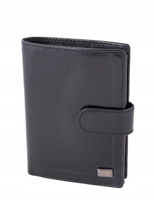 Herren Leder Geldbörse Schwarz 240
