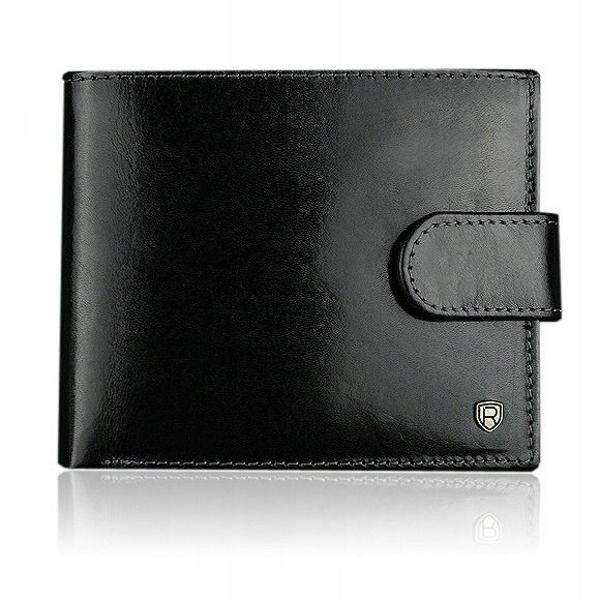Herren Leder Geldbörse Schwarz 906