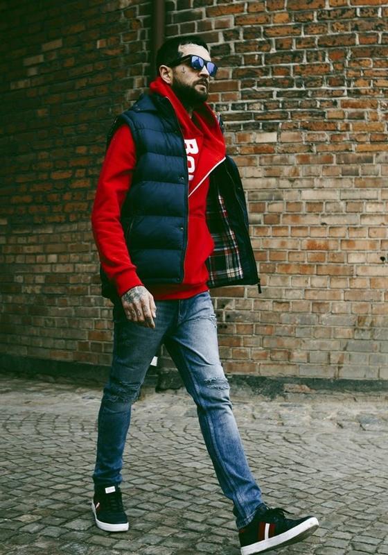 Styling Nr.179-Weste,Sweatshirt mit Kapuze,Jeanshose