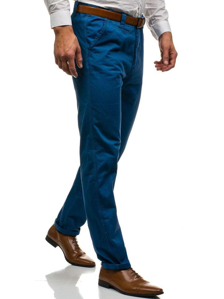 wähle echt neuer Lebensstil viel rabatt genießen Bolf Herren Chino Hose Blau 6191