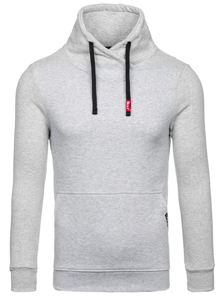 d2929415063536 Bolf Herren Sweatshirt ohne Kapuze Grau 04