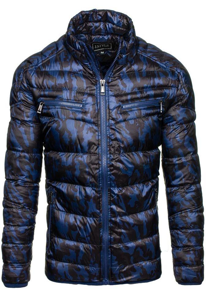 bolf herren winterjacke sport jacke camo dunkelblau 3156. Black Bedroom Furniture Sets. Home Design Ideas