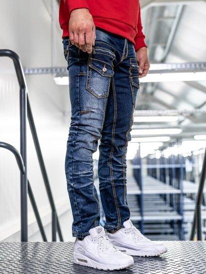 Bolf Herren Jeans Hose slim fit Dunkelblau  KA9917