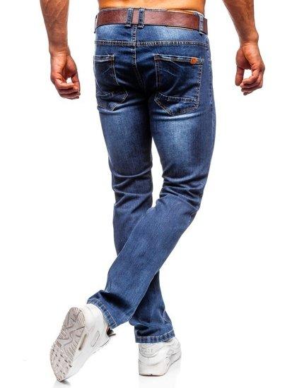 Bolf Herren Jeans Hose straight leg Dunkelblau  KA1226