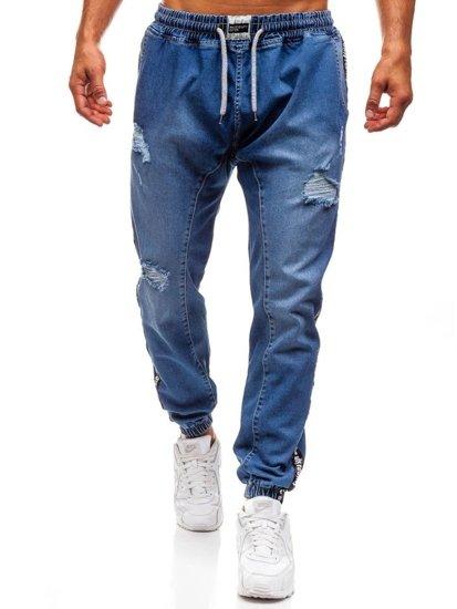 Bolf Herren Jeanshose Baggy Blau  2045