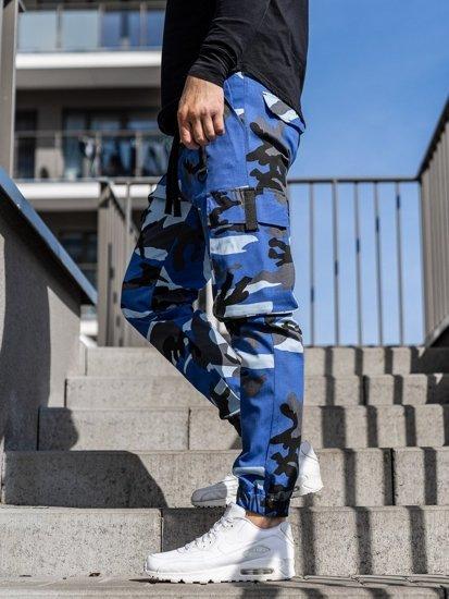 Bolf Herren Joggerhose Cargohose Blau 1105