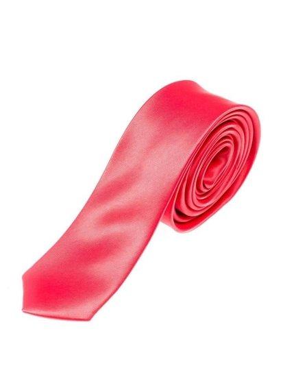 Bolf Herren Krawatte Korallenrot K001