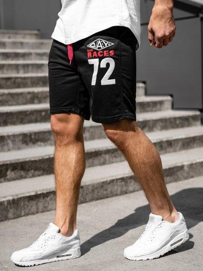 Bolf Herren Kurze Sporthose Schwarz  EX05-1