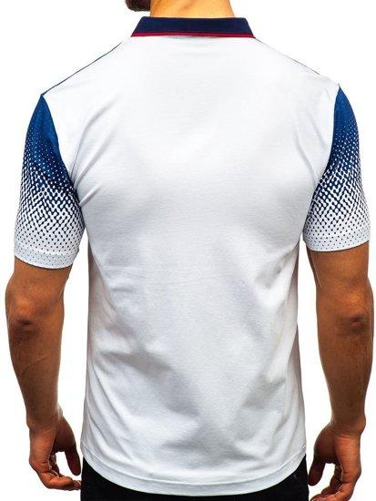 Bolf Herren Poloshirt Weiß  6599